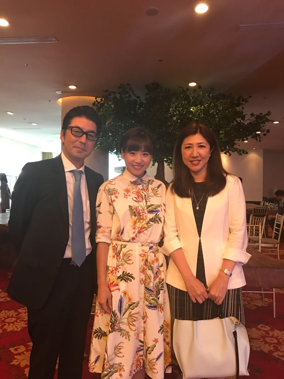 President of PT Marubeni Indonesia with Haruka Nakagawa who actively supported The World of Ghibli Event