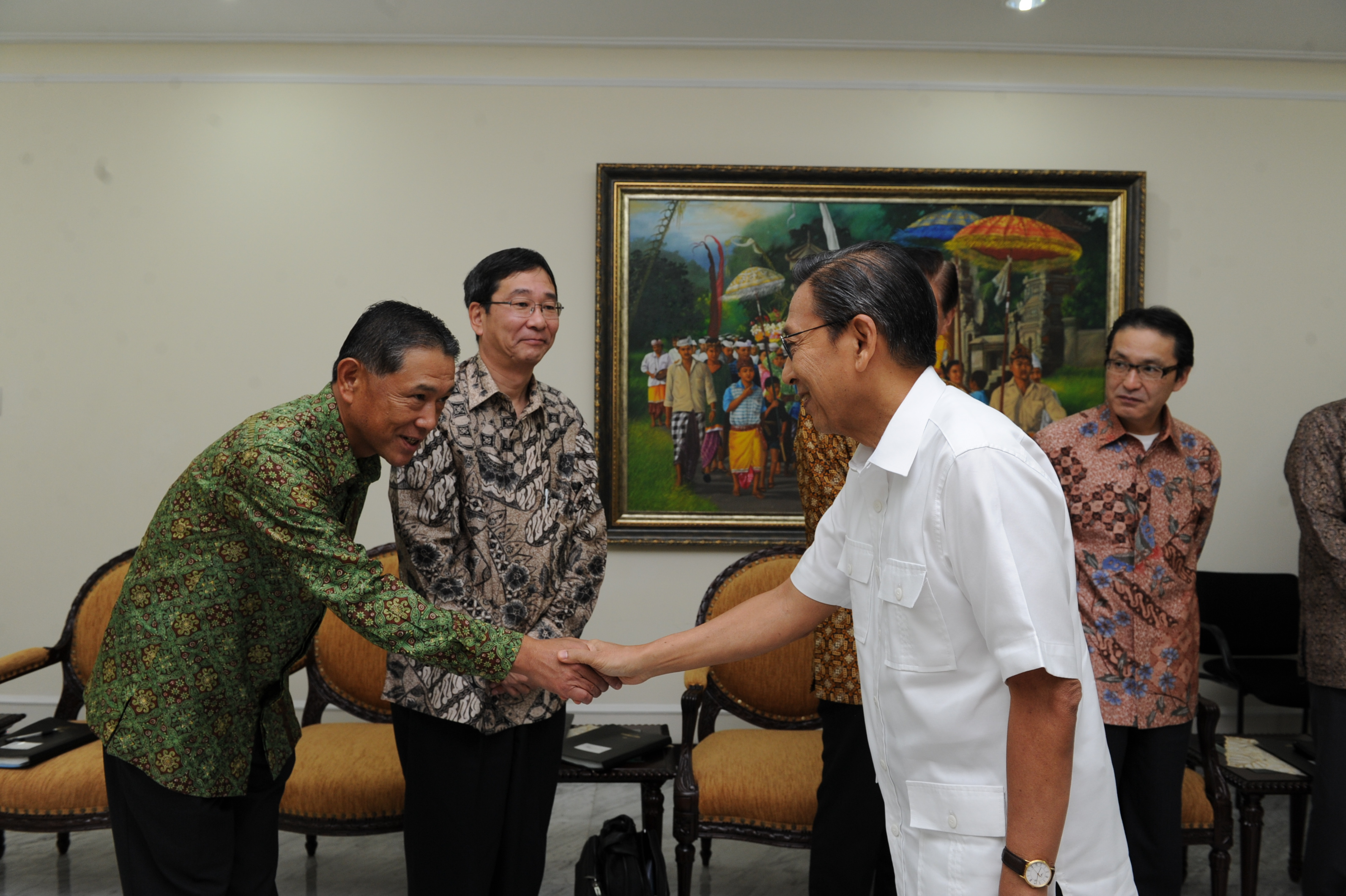 Mr. Itakura (President Director of PT. Marubeni Indonesia) visited the Vice President of Republic of Indonesia